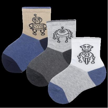 """Детские носочки для мальчиков """"Роботы"""" KTSL0147 / 12 пар / ассорти"""