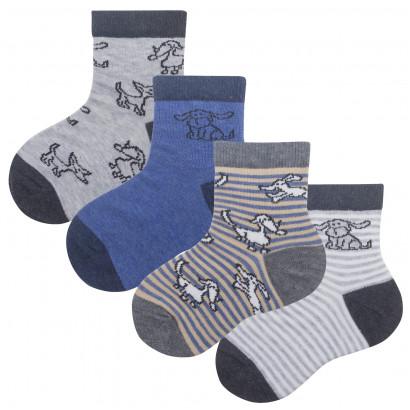"""Детские носочки """"Собачки"""" для мальчиков KTSL0149 / 12 пар / ассорти"""