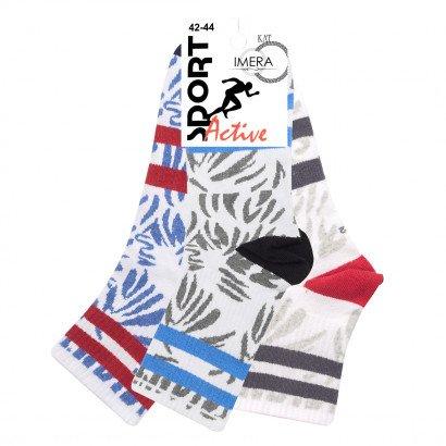 """Спортивные Мужские носки Имера """"Брызги"""" ISL0146 / 12 пар / ассорти"""