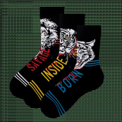 "Мужские носки Имера ""Wild Inside"" IL0076 / 12 пар / чёрные"