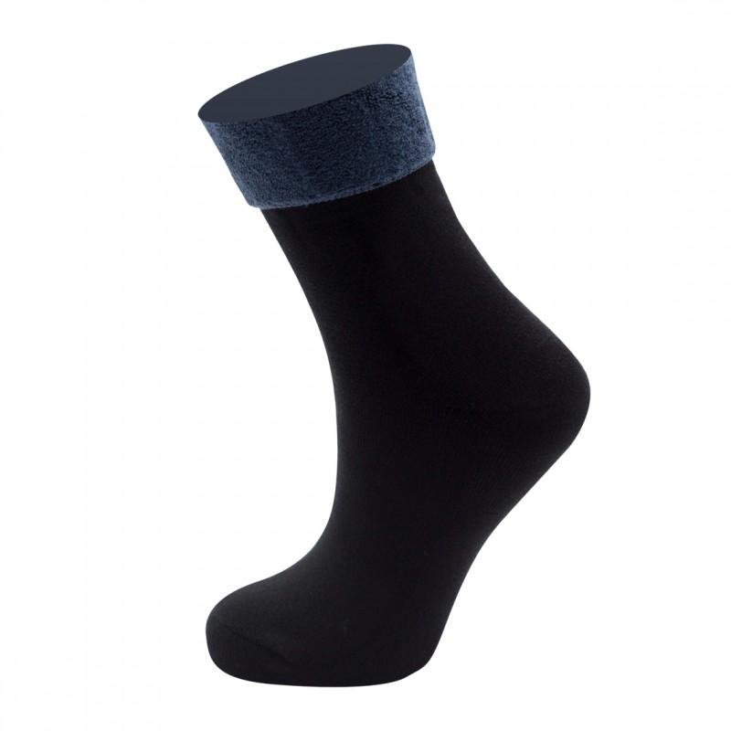 """SM3023 Sandra """"Однотонные"""" женские махровые носки / 6 пар / т.синие"""