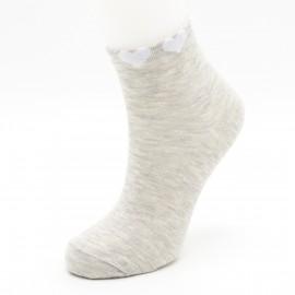 "Женские носки Sandra ""Сердечки на резинке"" SLL0116 / 12 пар / серый меланж"