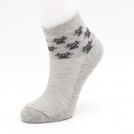 """Женские носки Sandra """"Котята на резинке"""" SLS0123 / 12 пар / серый меланж"""