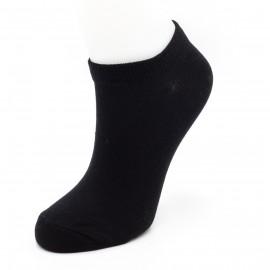 """Женские укороченные носки SANDRA """"Однотонные"""" SLL0100 / 12 пар / чёрные"""