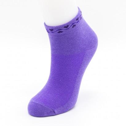 "Женские носки SANDRA ""Сердечки на резинке"" SLS0036 / 12 пар / ассорти"
