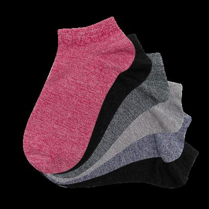 Женские носки SANDRA  укороченные SLL0100 / 12 пар /комби ассорти