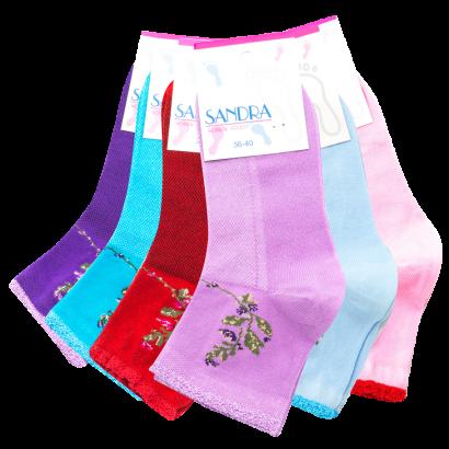 "Женские носки ""Sandra"" SLS0014 / 12 ПАР"