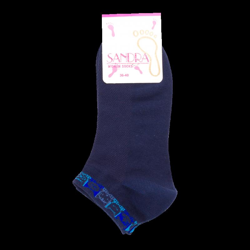"Женские короткие носки SANDRA ""Котята на резинке"" SLS0168 / 12 пар / ассорти"