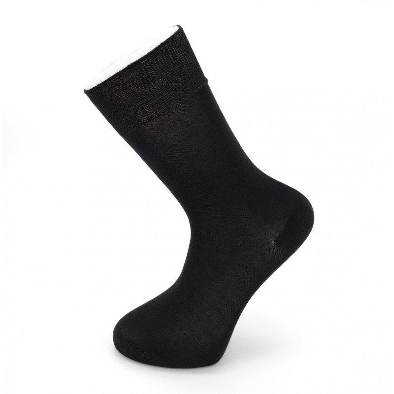 """Мужские бесшовные носки Carabelli """"Однотонные"""" C1001 / 12 пар / чёрные"""