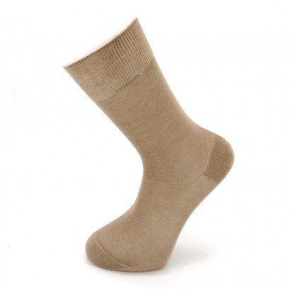 """Мужские бесшовные носки Carabelli """"Однотонные"""" C1001 / 12 пар / тёмно-бежевые"""